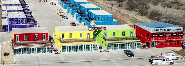 An Entire Business Park in Texas Made with 120 Shipping Containers!